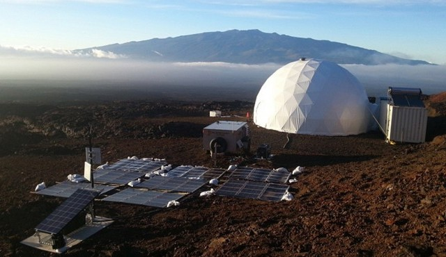 "Simulierte Marsstation auf Hawaii, das Projekt ""Hawaii Space Exploration Analog and Simulation"" (HI-SEAS) wird von der Weltraumagentur Nasa und der Universität Hawaii betrieben (dpa/NASA HI-SEAS)"